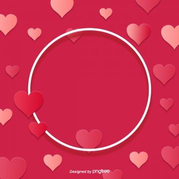 캐릭터 밸런타인데이 핑크 하트 장식 , 기하, 원형., 심형. 배경 이미지