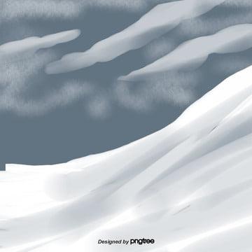 कार्टून सफेद बर्फ और रात के दृश्य , बर्फ, सर्दियों, कार्टून पृष्ठभूमि छवि