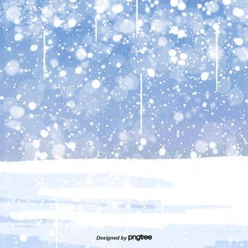 cartoon winter snow scene , Snowing, Winter, Cartoon Background image