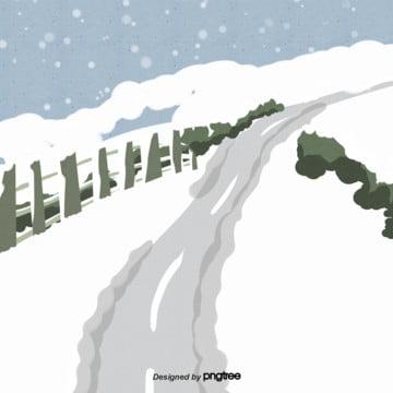 mùa đông tuyết cảnh hoạt hình , Tuyết Rơi, Mùa Đông., Hoạt Hình Ảnh nền