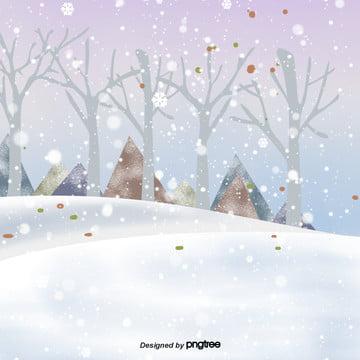cartoon winter snow scene , Snowing, Winter, Winter Background image