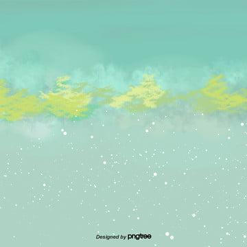 卡通冬季下雪的樹林場景 , 下雪, 冬季, 卡通 背景圖片