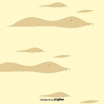 卡通黃色的沙漠場景 , 元素, 卡通, 土坡 背景圖片