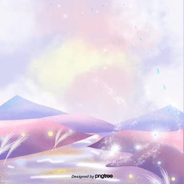 夢のアニメの煙シーン , 元素, アニメ, シーン 背景画像