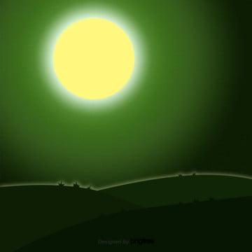 हरे रंग की ढाल के साथ रात , हेलोवीन, कार्टून, रात पृष्ठभूमि छवि