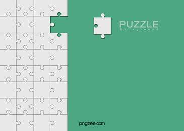 हरी न्यूनतर पहेली पृष्ठभूमि, फ्लैट, पहेली आकार, Minimalist पृष्ठभूमि पृष्ठभूमि छवि