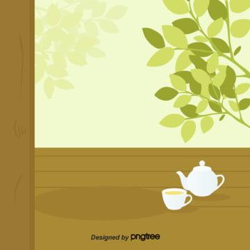 緑の木目ポットカップ , 木目, 枝葉, 植物 背景画像