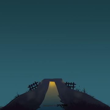 हेलोवीन रात के दृश्य , हेलोवीन, कार्टून, बाड़ पृष्ठभूमि छवि