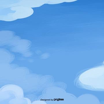 हाथ से पेंट नीले आकाश देखे , तत्वों, कार्टून, दृश्य पृष्ठभूमि छवि