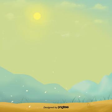 हाथ चित्रित बेहोश पीले मौसम पर्वत क्षेत्र दर्शनों की संख्या , कार्टून, मौसम, चोटियों पृष्ठभूमि छवि