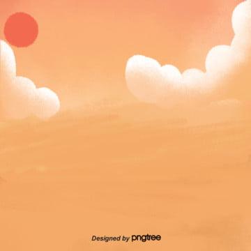 हाथ से पेंट ढाल नारंगी बादलों लाल सफेद बिजली व्यापार पृष्ठभूमि , हाथ चित्रित, ढाल नारंगी, रिक्त पृष्ठभूमि पृष्ठभूमि छवि
