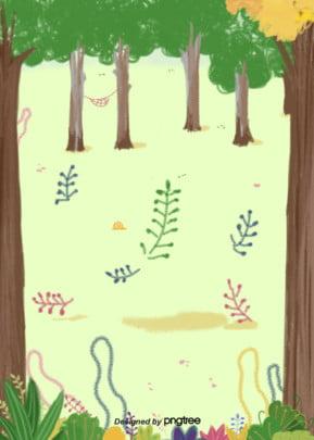 handbemalte outdoor   forest vegetation hintergrund , Outdoor -, Handbemalte, Die Blätter Hintergrundbild