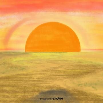 हाथ पीले रंग गोधूलि बेला में देखे , चमक, कार्टून, दृश्य पृष्ठभूमि छवि