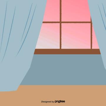 quang cảnh bên ngoài cửa sổ của cảnh trong nhà , Hoạt Hình, Cảnh, Trong Nhà Ảnh nền