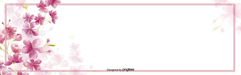 गुलाबी संयंत्र फूल सजावटी सीमा, संयंत्र, ढाल, गुलाबी पृष्ठभूमि छवि