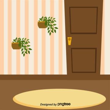 家の壁の花かごの植物は飾ります , カーペット, 壁, 壁紙 背景画像