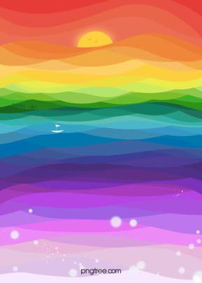 इंद्रधनुष के रंग के फ्लैट स्क्रीन ढाल पृष्ठभूमि , सूर्य, फ्लैट शैली, इंद्रधनुष के रंग पृष्ठभूमि छवि