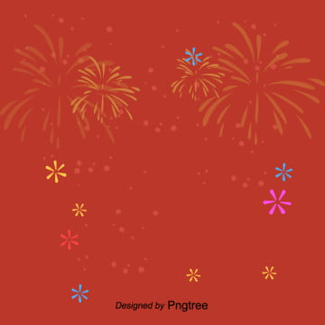 red fireworks blooming effect of cartoon new years spring festival , Chinese Style, Cartoon, Jubilation Background image