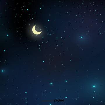 青い月の星空が , アニメ, シーン, 夜の夜 背景画像