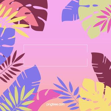 夏日彩色棕櫚葉背景 , 夏日, 多彩, 棕櫚葉 背景圖片