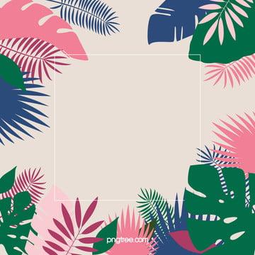 夏日多彩棕櫚葉背景 , 夏日, 多彩, 棕櫚葉 背景圖片