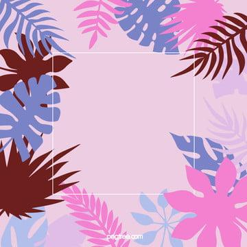 夏日棕櫚葉背景 , 夏天, 多彩, 棕櫚葉 背景圖片