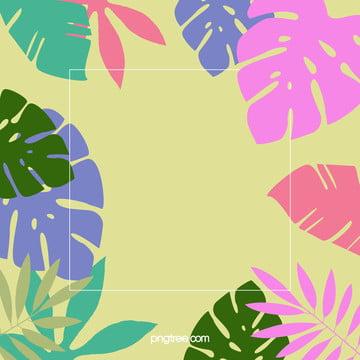 夏日棕櫚葉背景 , 夏日, 多彩, 棕櫚葉 背景圖片