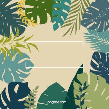 夏日復古棕櫚葉元素熱帶植物風格背景 , 元素, 葉子, 復古 背景圖片