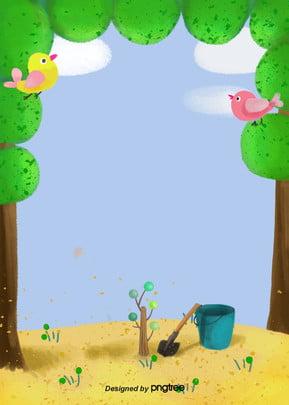 夏木栽培工具 , 雲の輪, 夏, 木 背景画像