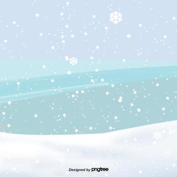 卡通下雪的冬天雪地背景 , 下雪, 冬天, 寒冷 背景圖片