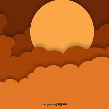 पीले कार्टून सूर्योदय आकाश पृष्ठभूमि , कार्टून, आकाश, सूर्य पृष्ठभूमि छवि