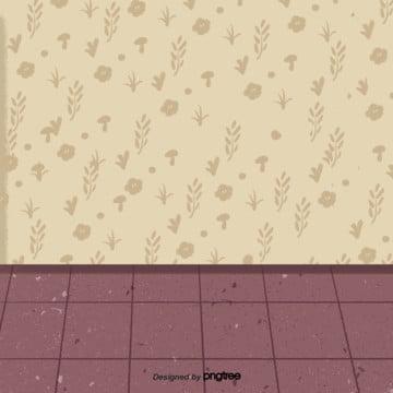 कार्टून इनडोर पीले वॉलपेपर लाल मंजिल , कार्टून, मंजिल, दृश्य पृष्ठभूमि छवि