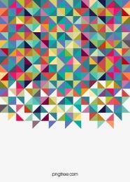 彩色幾何三角背景 , 三角形, 像素, 幾何 背景圖片