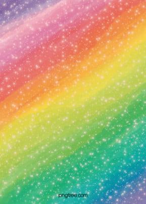 इंद्रधनुष के रंग के विमान आकाश ढाल पृष्ठभूमि , फ्लैट शैली, इंद्रधनुष के रंग, तारों से आकाश पृष्ठभूमि छवि