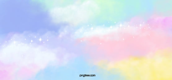 rainbow color aquarelle magic background, Sept Couleurs, Nuage, Lumineux image de fond