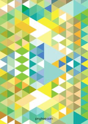 黃綠三角背景 , 三角形, 像素, 幾何 背景圖片