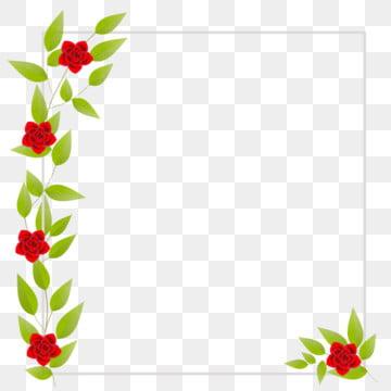 leaves and roses frame border , Frame, Square, Green Leaves Background image