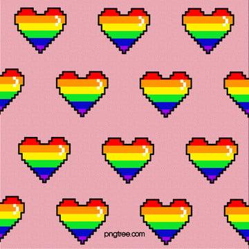 粉色馬賽克點數彩虹無縫背景 , 點數風格, 彩虹, 活潑 背景圖片