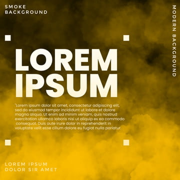 編集可能なテキストと現代の背景黄色の煙 , 背景, 背景テンプレート, 旗 背景画像