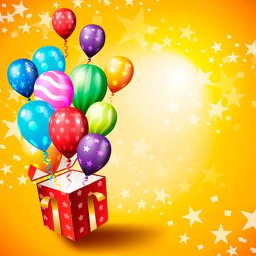 जन्मदिन कार्ड डिजाइन , जन्मदिन का तोहफा, जन्मदिन, गुब्बारा पृष्ठभूमि छवि