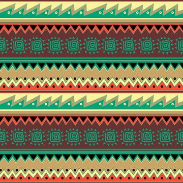 アフリカのアステカのデザインを描いた手でカラフルな部族の描画パターン , 抄録, アフリカ人, アメリカン 背景画像