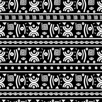 da màu trắng và đen kiểu trừu tượng để in và vải thời trang , Abstract, Châu Phi., Quần áo Ảnh nền