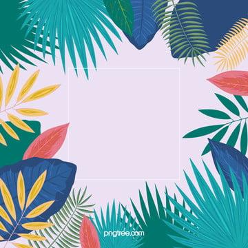 夏日多彩棕櫚葉背景 , 夏天, 多彩, 棕櫚葉 背景圖片