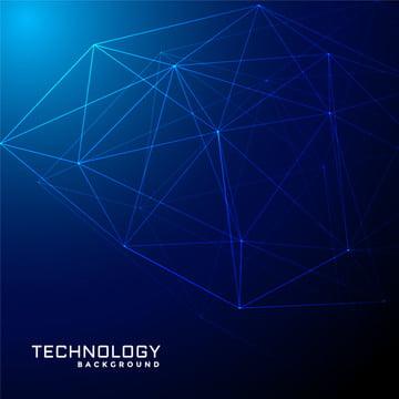 абстрактной голубой сети проволочной сеткой  технологии , 3d, резюме, ма Фоновый рисунок