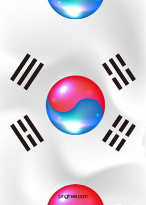 background of korean national flag bright gradual change , Korean People, Loyalty Day, Stereoscopic Background image