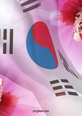 दक्षिण कोरिया का ध्वज ताई ची झंडा पृष्ठभूमि , झंडा, कोरिया राष्ट्रीय, महत्वपूर्ण वफादारी दिन पृष्ठभूमि छवि