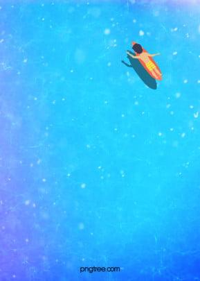 màu xanh tươi mát mùa hè và nền biển đã được xăm , Nhân Vật, Hình ảnh Phản Chiếu, Hoạt Hình Ảnh nền