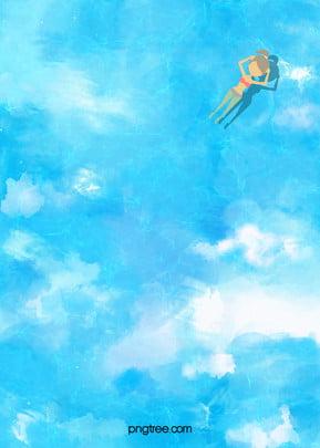 ondulação de verão fresco oceano azul de fundo O Reflexo No Imagem Do Plano De Fundo