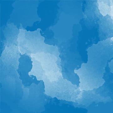푸른 예술 수채화 배경 매체 , 다이제스트, 요약 수채화, 예술 배경 이미지