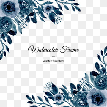 blue watercolor flower background , Flower, Flowers, Floral Background image